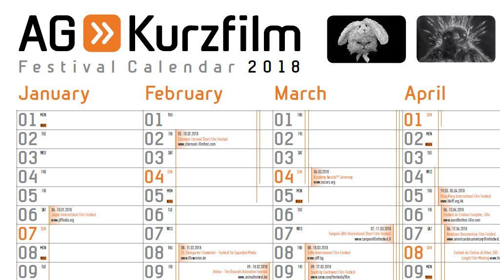 Ein Ausschnitt eines Kalenders. Darauf die ersten Tage von Januar, Februar, März und April. Es sind Termine in den Kalender eingetragen.